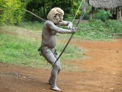 mudman papua - stock photo