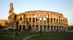 Ancient roman Colosseum in Rome, Italy - stock footage