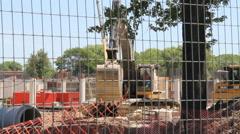 CONSTRUCTION EXCAVATOR 3 Stock Footage