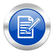 subscribe blue circle chrome web icon isolated. - stock illustration