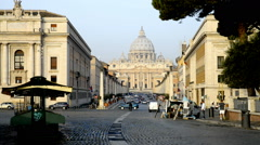 The Papal Basilica of Saint Peter in the Vatican (Basilica Papale di San Pietro Stock Footage