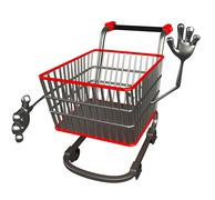 the trolly charecter with shake hand - stock illustration