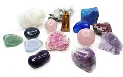 Stock Photo of amethyst quartz garnet sodalite agate geological crystals