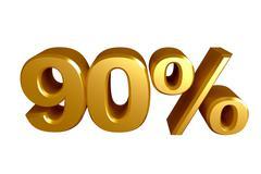 90 percent icon Stock Illustration