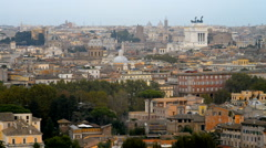 Panoramic view of downtown Rome from the Gianicolo hill, Italy, Europe Stock Footage