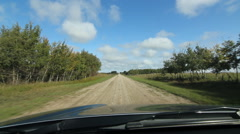 Driving on a country road in southern Saskatchewan, Canada. Stock Footage
