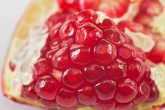 Pomegranate on a white background Stock Photos