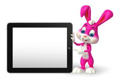 Stock Illustration of easter bunny with tab