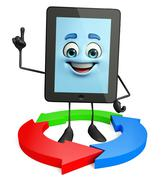 Tab character with arrow sign Stock Illustration