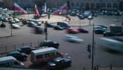 Vosstaniya Square Saint Petersburg Tilt-Shift Time Lapse Stock Footage