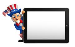 Stock Illustration of uncle sam with tab