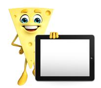 Stock Illustration of cheese character with tab