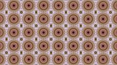 Beautiful kaleidoscopic pattern in pastel colors. Stock Footage