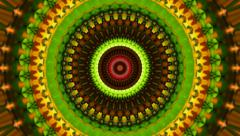 Beautiful kaleidoscopic circle pattern in bright colors. Stock Footage