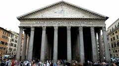 Pantheon, Rome, Italy Stock Footage