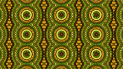 Beautiful kaleidoscopic pattern in bright colors. Stock Footage
