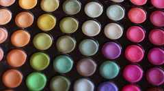 Color Cosmetic Palette Stock Footage