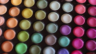 Stock Video Footage of Color Cosmetic Palette
