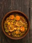 rustic vegetarian casserole - stock photo