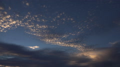 4K Sunset Cloud Ripples Time Lapse Stock Footage