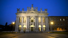 The Papal Archbasilica of St. John Lateran Stock Footage