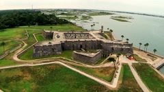 Castle  st augustine florida Stock Footage