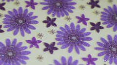 Flower Paper Background Stock Footage