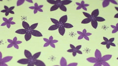 Flower Paper Background 4 Stock Footage
