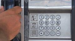 Payphone. Chania, Crete, Greece  Stock Footage
