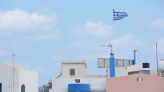 View of roofs. Crete. Greece Stock Footage