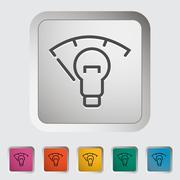 Car panel illumination - stock illustration