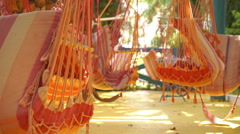 Empty Hammocks Stock Footage