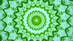 Abstract floral kaleidoscopic pattern in green colors. - stock footage