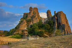 Belogradchik rocks Fortress  Landmark - stock photo