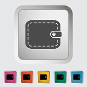 Purse flat icon Stock Illustration
