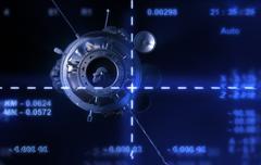 Satellite from camera - stock illustration