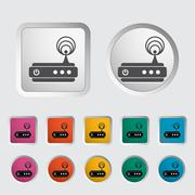 Stock Illustration of Router single icon.