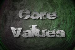 core values concept - stock illustration