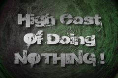 High cost of doing nothing concept Stock Illustration