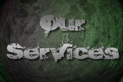 our services concept - stock illustration