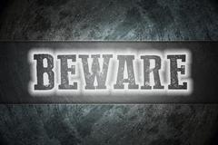 beware concept - stock illustration