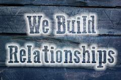 We build relationships concept Stock Illustration