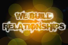 we build relationships concept - stock illustration