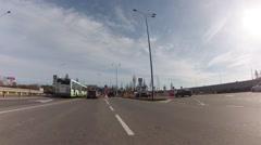 Driving thru Sheremetyevo airport.  Exit gates Stock Footage