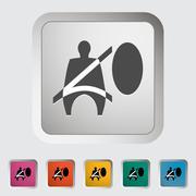 Seat belt - stock illustration