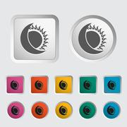 Solar eclipse single icon. Stock Illustration