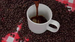 4K Enjoy Hot Refreshing Cup Of Coffee Stock Footage