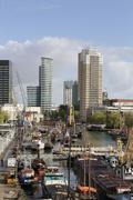 Inner city harbor - stock photo