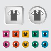 T-shirt single icon. Stock Illustration