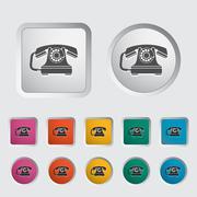 Vintage phone icon. - stock illustration